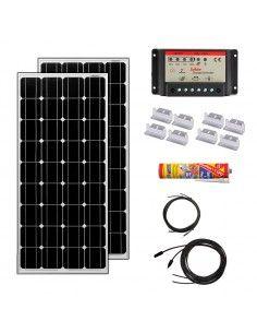 Kit Paneles Solares 1400 W/H/Día 12V Furgoneta Camper & Autocaravana