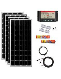 Kit Paneles Solares 2800 W/H/Día 12V Furgoneta Camper & Autocaravana