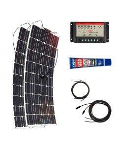 Kit Paneles Solares Flexibles 1400 W/H/Día 12V Furgoneta Camper & Autocaravana