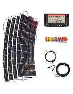 Kit Paneles Solares Flexibles 2800 W/H/Día 12V Furgoneta Camper & Autocaravana